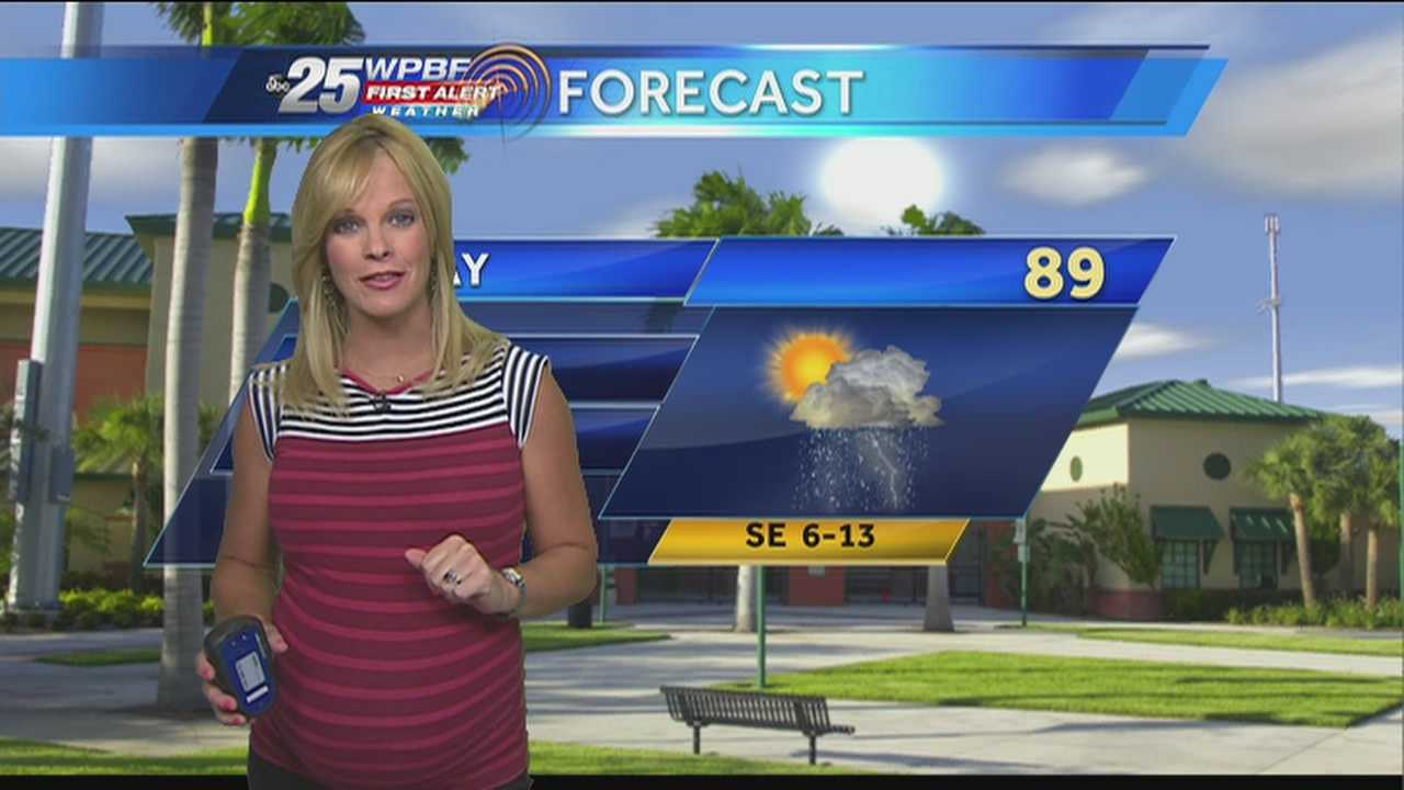 Another typical summer day is expected around town Wednesday.