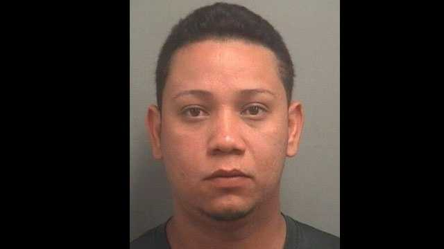 Victor Martinez is accused of shooting Margaritta Sandoval with a shotgun during a bar fight in West Palm Beach.