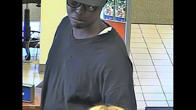 Martravius Blue is accused of robbing a SunTrust branch on Okeechobee Road in Fort Pierce.