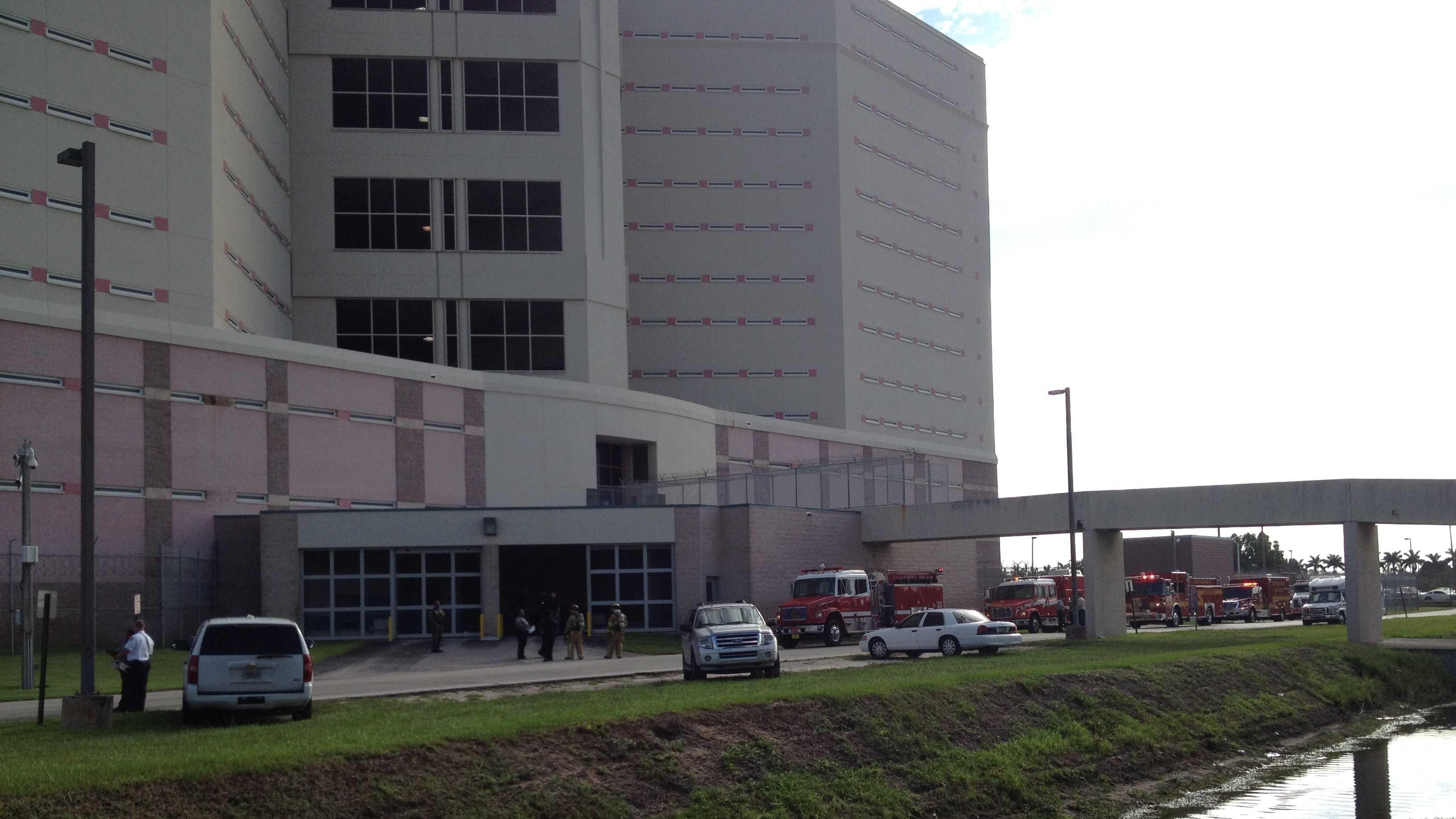 Palm Beach County Jail white powder scene