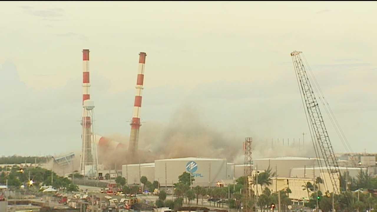 FPL smokestacks demolished at Port Everglades to make way for new facility