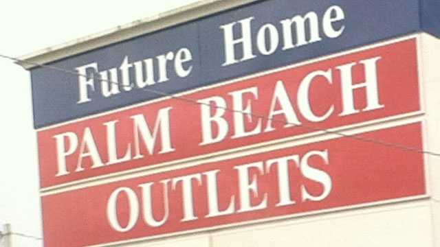 'Futue Home of Palm Beach Outlets' sign