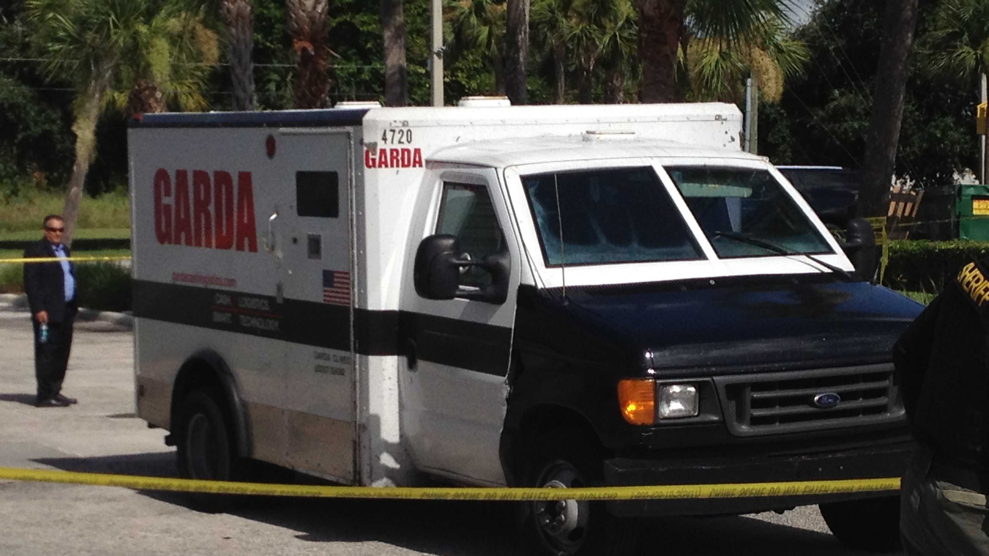 The driver of this armored truck called 911 after an attempted heist Tuesday morning.