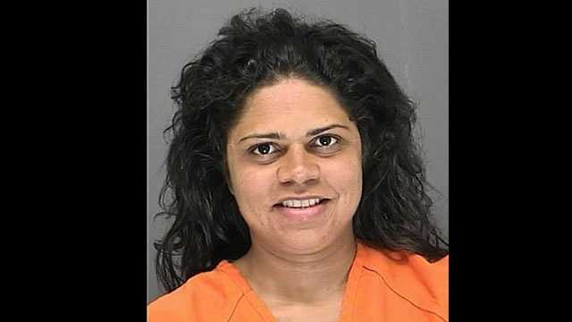Angela Estrella is accused of stealing a tow truck after her car broke down shortly after she was released from house arrest.