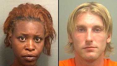 Mugshot Alexandra Dominique and James Rochester