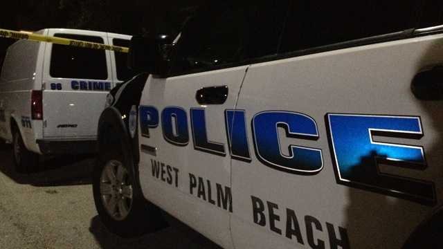Four West Palm Beach police officers are on leave after a confrontation with a suspect ended in gunfire Wednesday night.