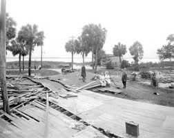1921: Damage from a hurricane that hit Tampa.