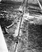 1935: The train was washed off the tracks during a hurricane in The Keys.