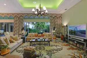 Modern artistic decor through out this home.