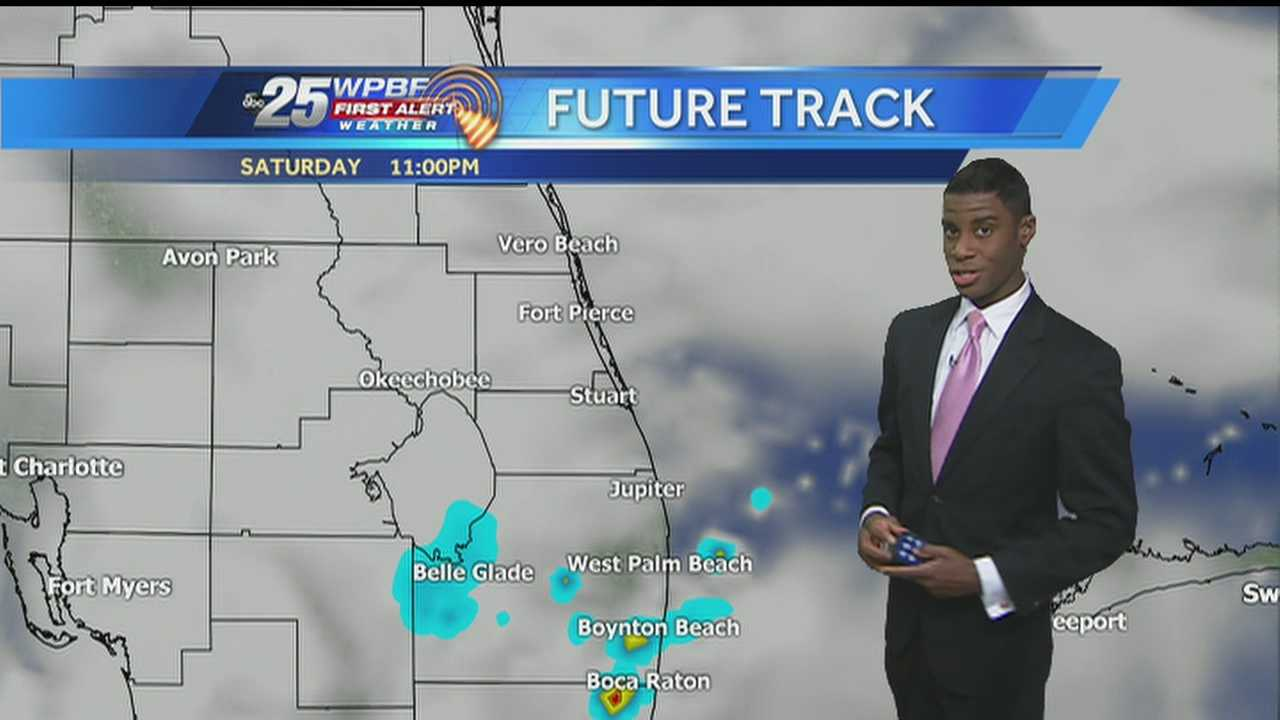 Justin says we can expect a mix of sun and clouds this weekend, with showers also likely and storms possible.