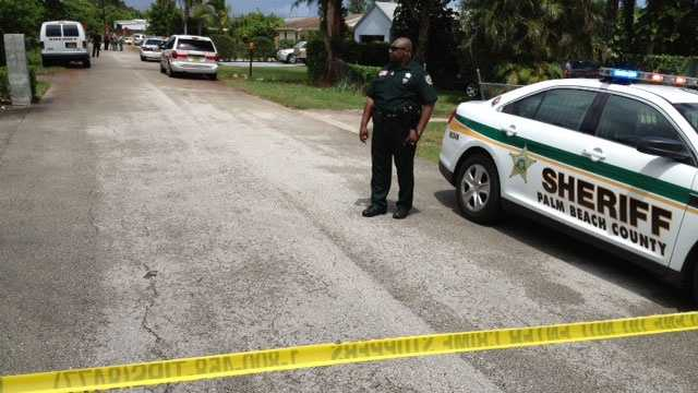 Deputies are investigating a shooting on Plantation Drive in West Palm Beach.