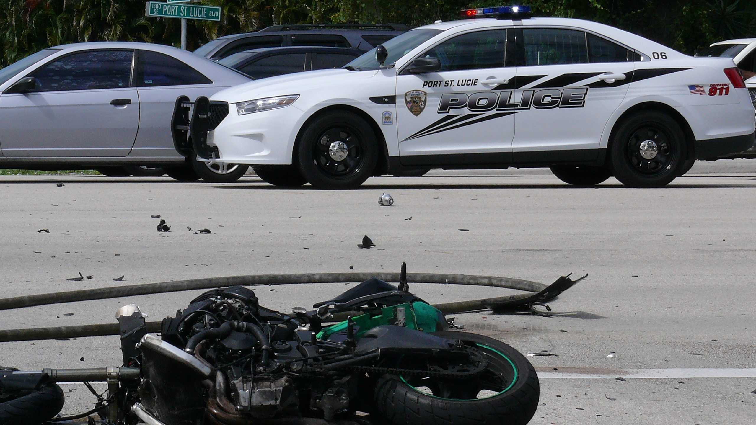 The 20-year-old driver of this motorcycle was killed in a collision with a bus in Port St. Lucie.