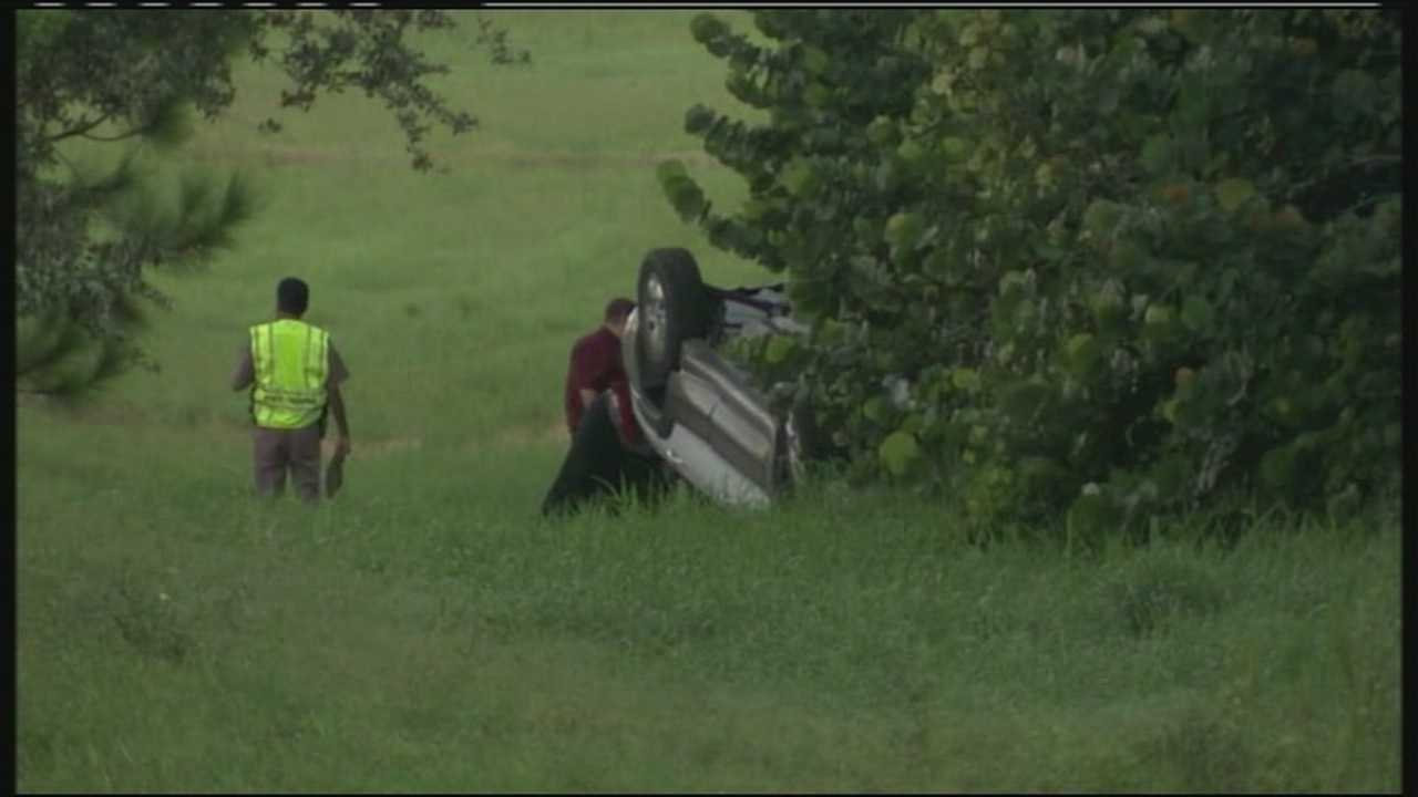 A deadly crash results in the closure of the northbound entrance ramp to Interstate 95 on Hypoluxo Road in Lantana.