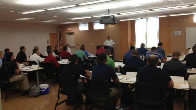 Palm Beach County fire academy recruits