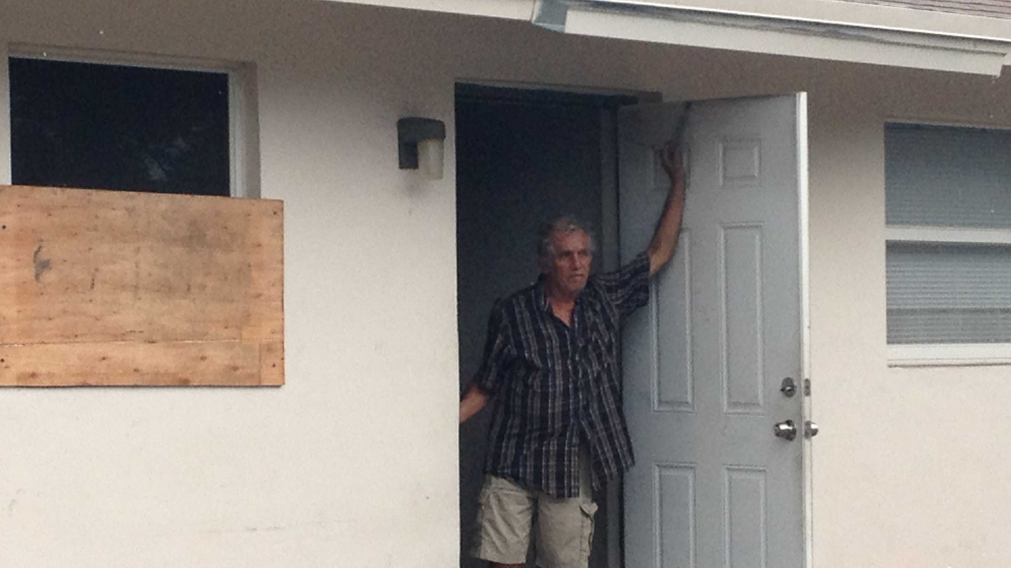 Gregorio Torres is thankful after his neighbors saved him from a fire at his Boca Raton home.