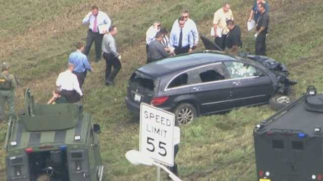 A high-speed chase came to an end in Broward County when the suspect was found dead in his SUV.