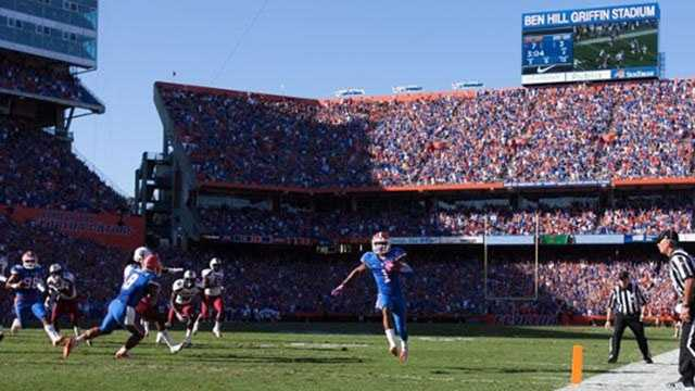 Florida takes on Tennessee in Gainesville on Saturday, and one lucky Vols fan will be sitting pretty near midfield.