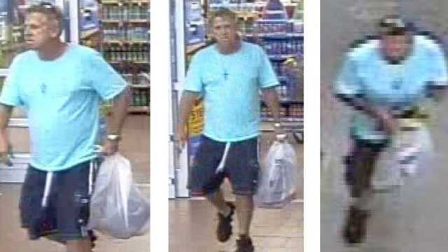 Police are trying to identify this man who stole a purse that fell out of a woman's shopping cart at Walmart last month.