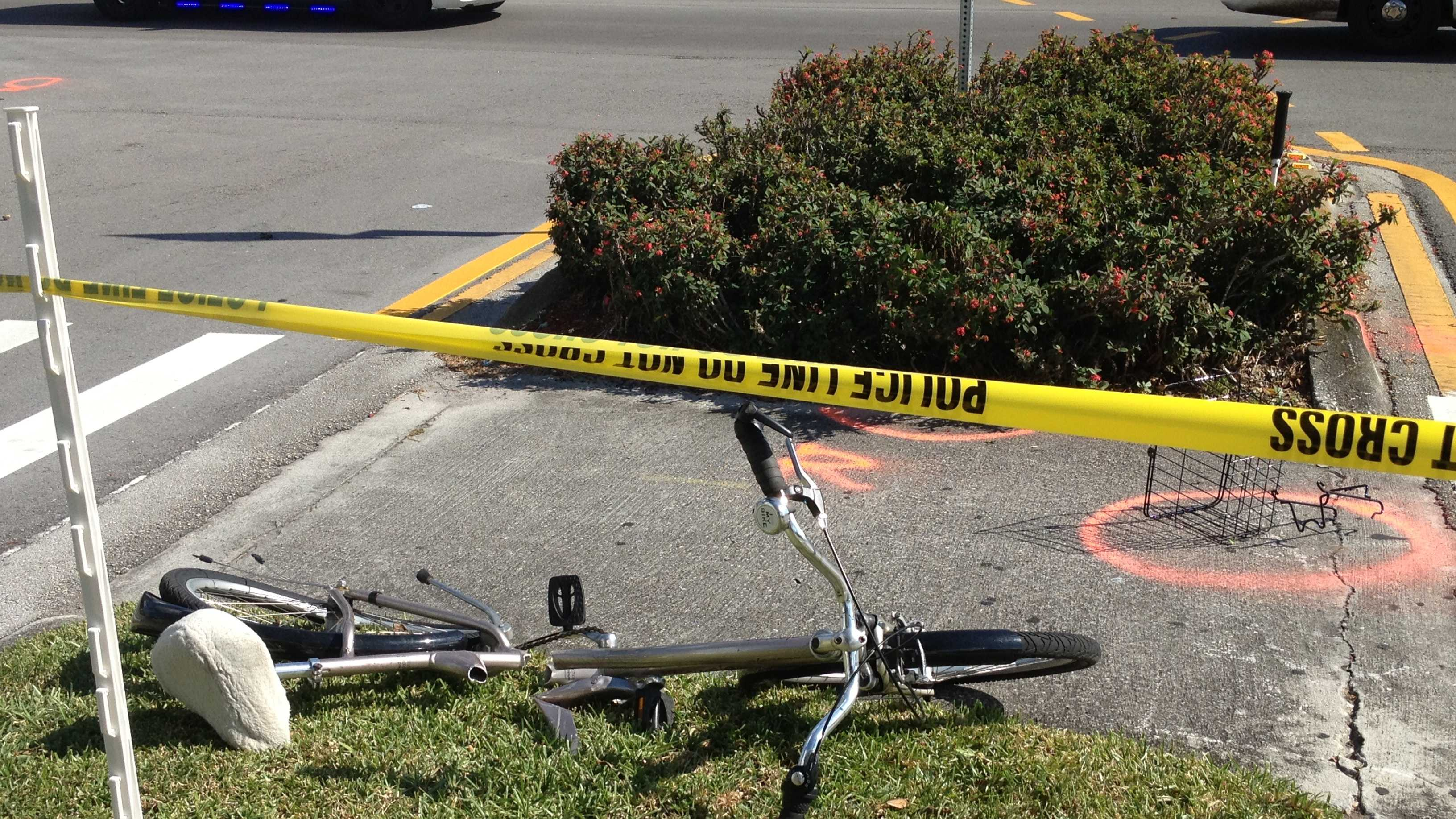 86-year-old man struck by car while riding bike