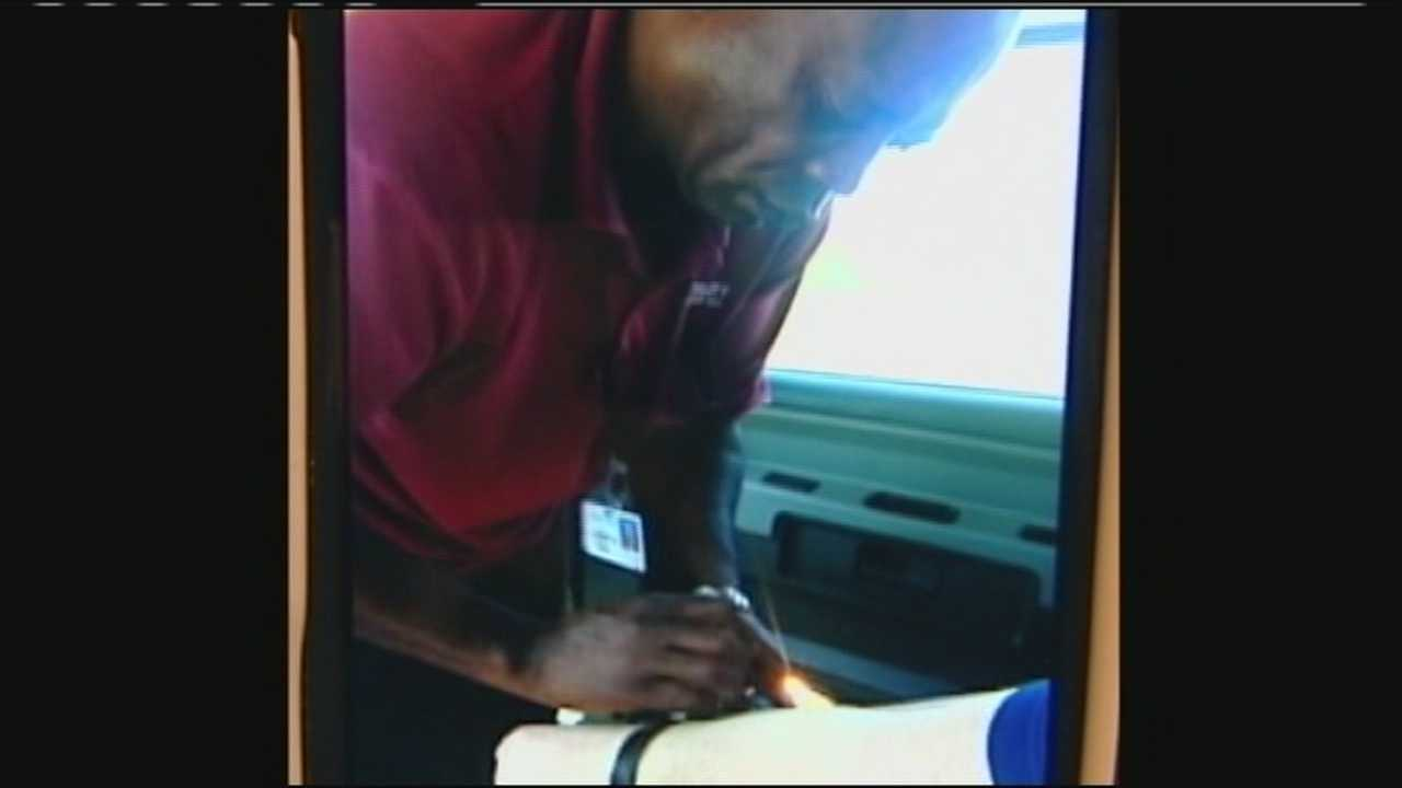 A bus driver who was fired after cellphone video showed him tying up an autistic student says he was just trying to protect him from danger.