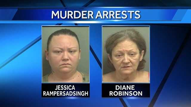 Jessica Rampersadsingh and her mother, Diane Robinson, are accused of starving to death Rampersadsingh's grandmother.