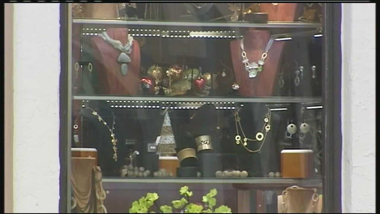 J. Mark Jewelers display case