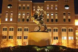 1. Florida State University (41,087) - 31 violent crimes, 537 property crimes for a total of 568 offenses