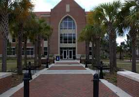 2. University of Florida (enrollment 49,589) - 18 violent crimes, 507 property crimes for a total of 525 offenses