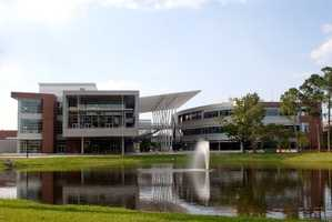 8. University of North Florida (enrollment 16,198) - Two violent crimes, 160 property crimes for a total of 162 offenses
