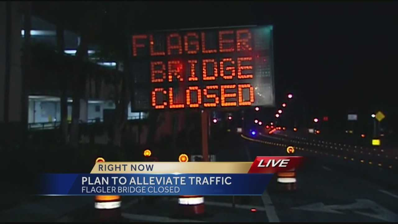 West Palm Beach Mayor Jeri Muoio gave an update Friday to the problems surrounding the Flagler Bridge.