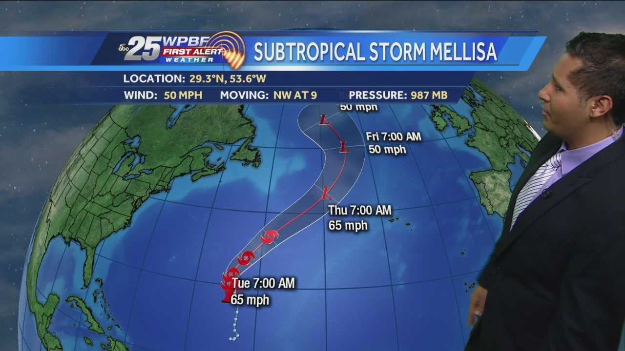 Subtropical Storm Melissa forms late in hurricane season