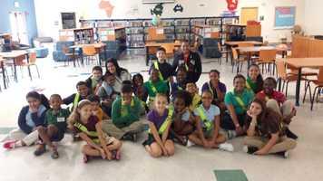NOV. 20: Cris visited Benoist Farms Elementary School in West Palm Beach.