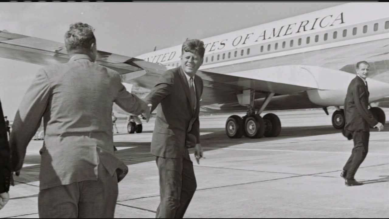 This is the last known photograph of JFK in West Palm Beach, moments before he boarded Air Force One at Palm Beach International Airport.
