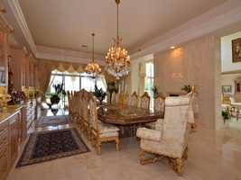 The formal dining room offers your guests an elegant dining experience.