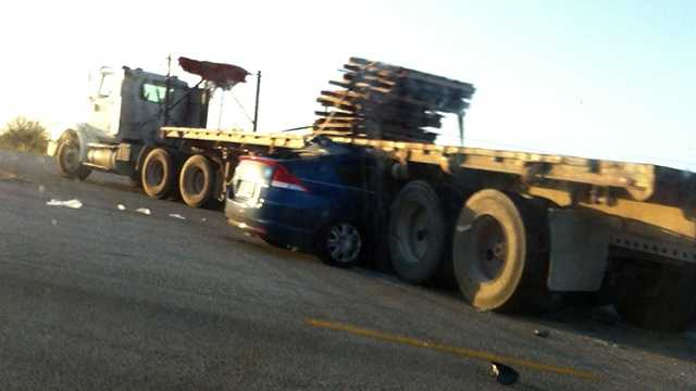 Somehow a motorist escaped this crash in St. Lucie County on Tuesday with injuries that were not life-threatening.