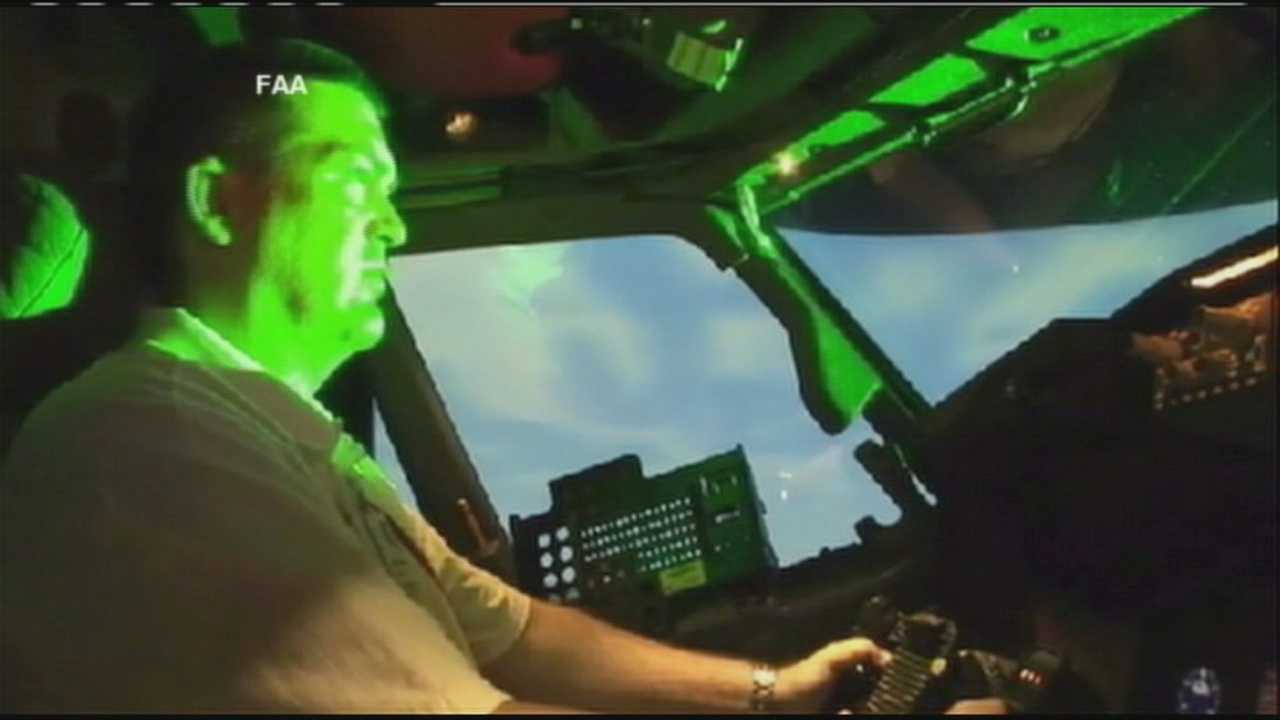 A pilot tells WPBF 25 News how there's been an increase in the number of laser incidents during takeoff and landing, as was the case recently at Palm Beach International Airport.