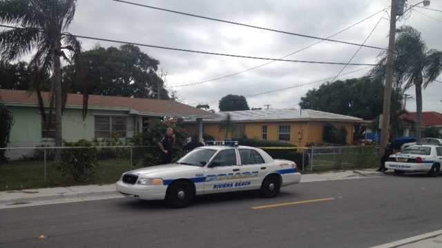 A man was stabbed at this home in the 1400 block of West 36th Street in Riviera Beach.