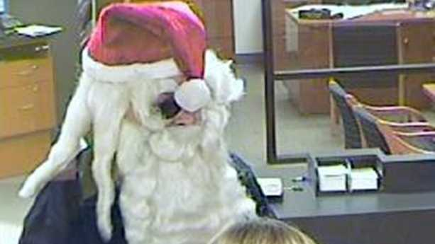 A man wearing a Santa Claus hat and beard robbed a Port Orange bank Monday.