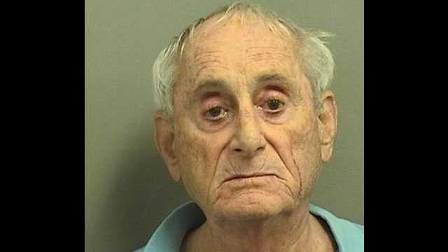Edward Aronson is accused of pushing his wife to the floor, injuring her hip.