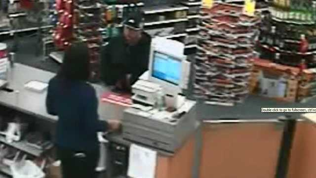cashier asks manager during robbery