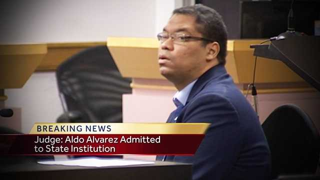 A judge ruled on Wednesday that Aldo Alvarez be remanded to a state mental facility.