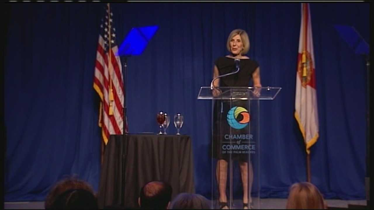 Mayor Jeri Muoio annunces Flagler Financial District