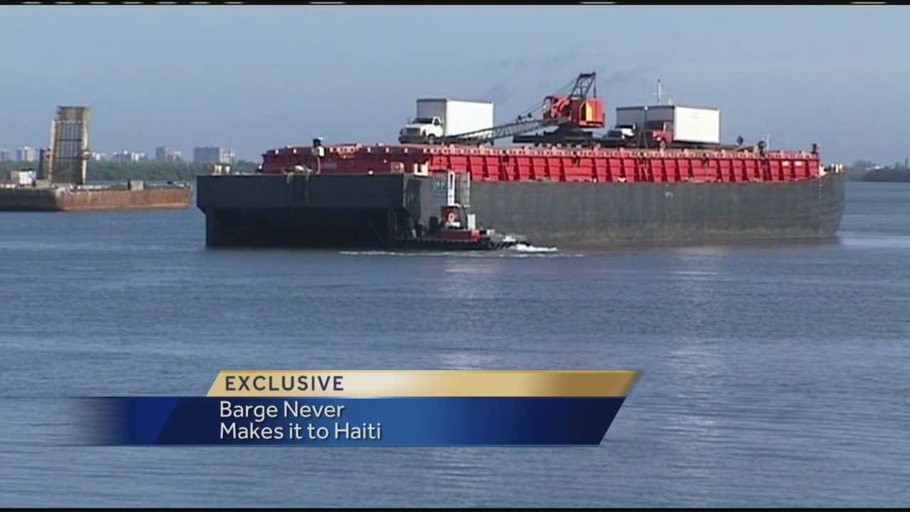A businessman who paid for the shipping of a barge from Fort Pierce to Haiti believes he is the victim of a scam, because the barge was diverted to Cuba and is now back in Florida without ever reaching its final destination.