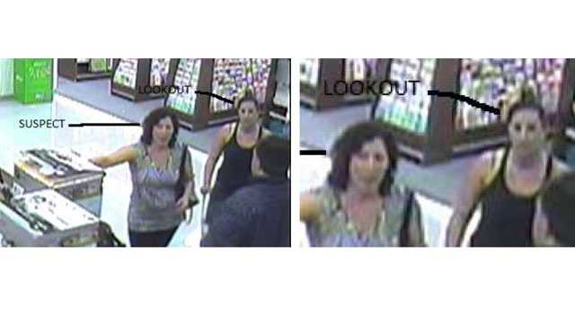 Wallet-stealing woman and lookout