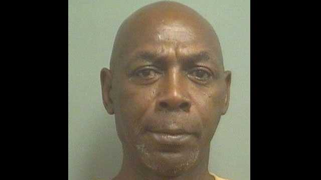 Shorbonia Poole is accused exposing his penis at a West Palm Beach convenience store.