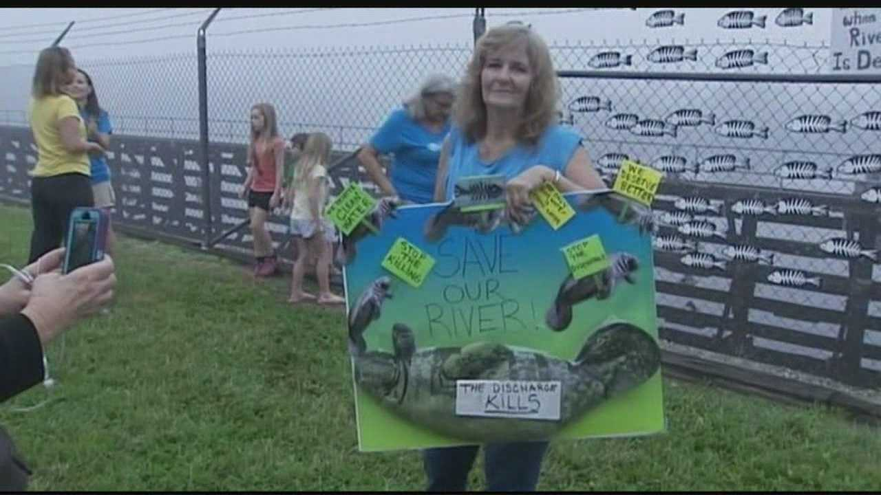 Protesters angry about possible Lake Okeechobee discharge