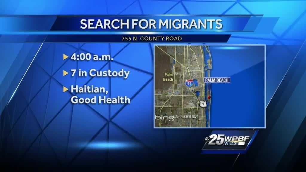 (img1)Haitian migrants land by Palm Beach Country Club