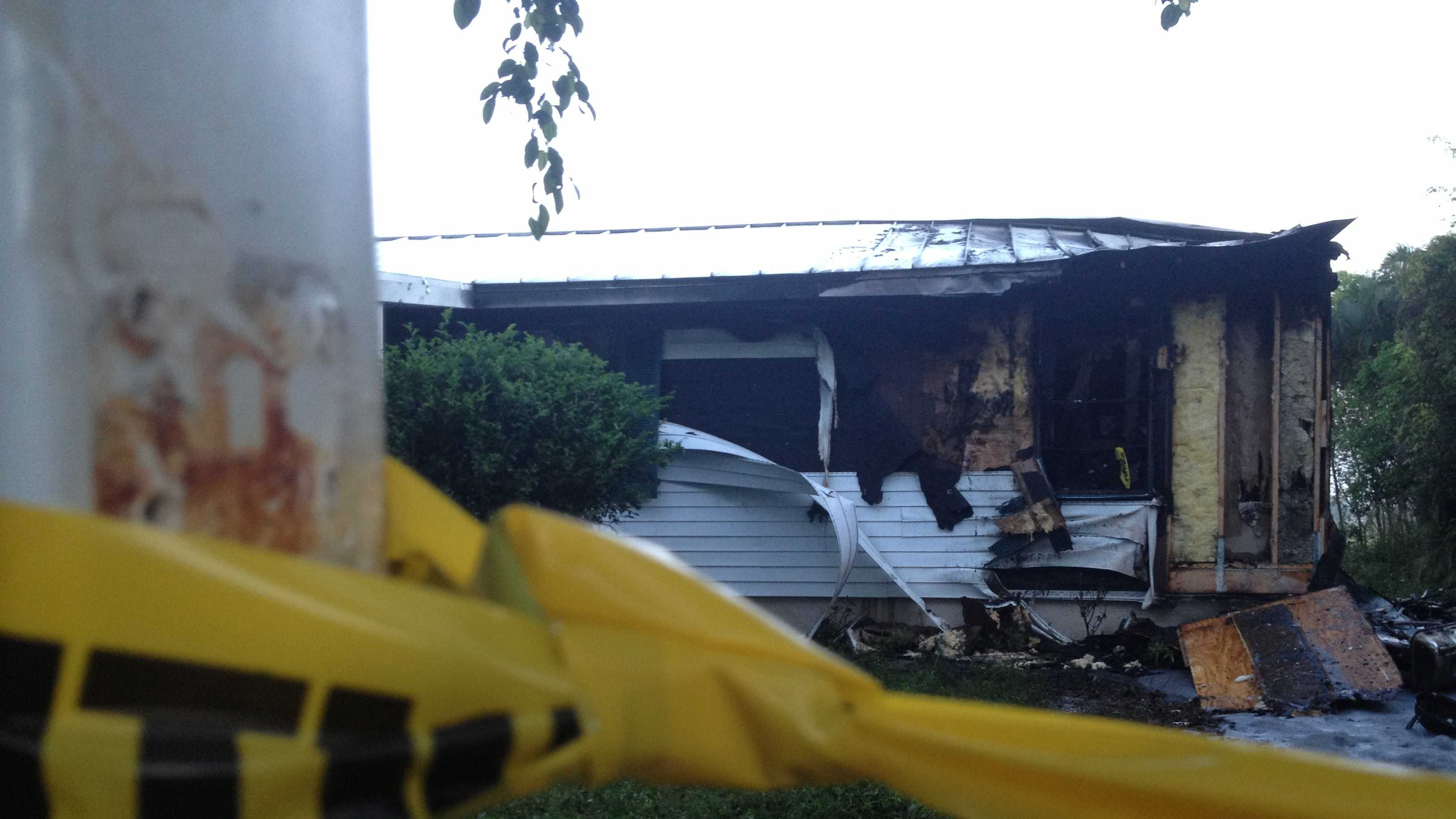 Fire officials reported there were no fire detectors in a burning house in Delray Beach on Tuesday morning.