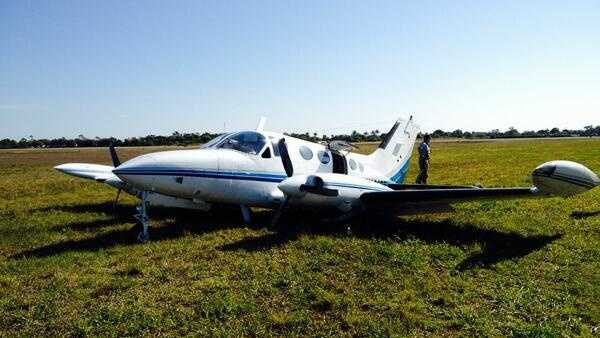This plane landed safely without its landing gear at Lantana Airport on Tuesday.