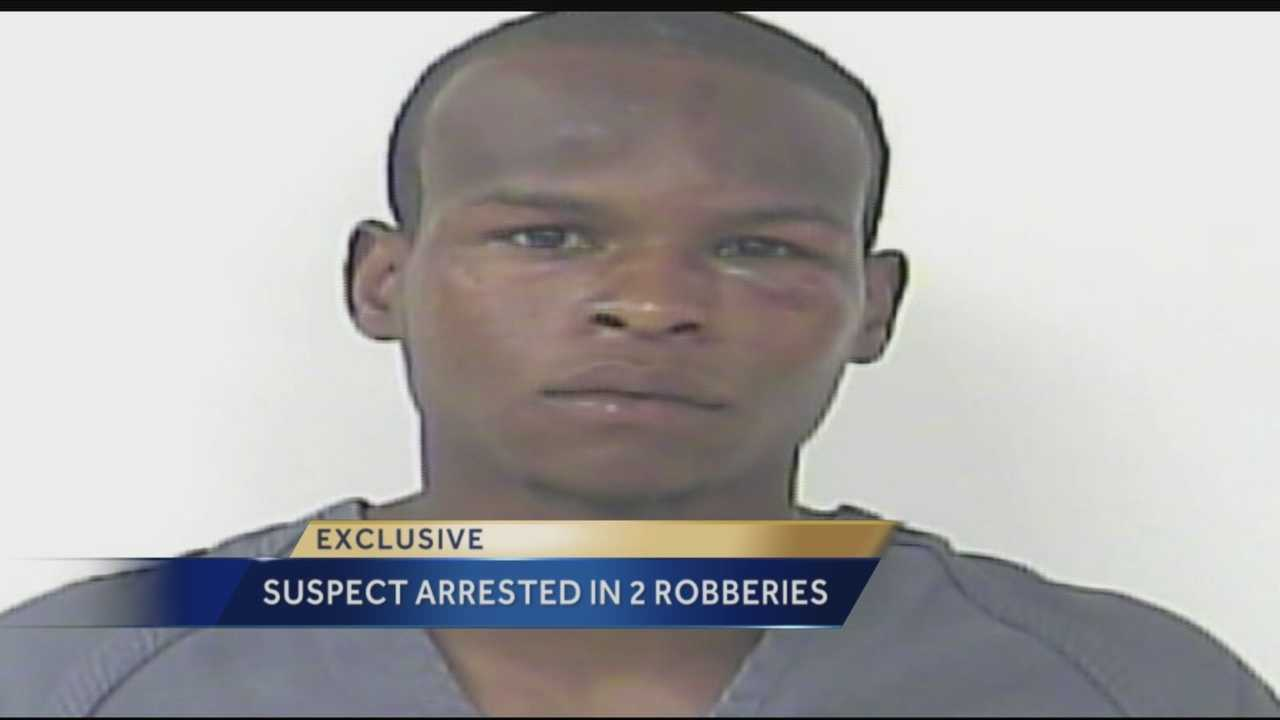 Suspect arrested in 2 robberies